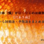 金魚の体(鱗)が赤くなるのは病気かも【穴あき病】原因から対処法・予防法をまとめました